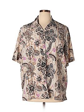 Alia Short Sleeve Button-Down Shirt Size 20 (Plus)