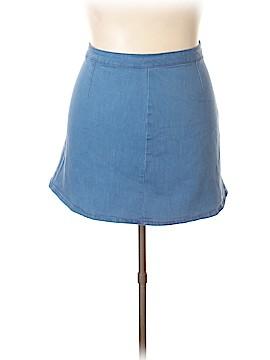 Andrea Behar Denim Skirt Size 18 (Plus)