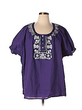 Avenue Short Sleeve Blouse Size 28 (Plus)