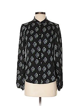 Diane von Furstenberg Long Sleeve Silk Top Size 2