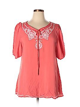 WD.NY Short Sleeve Blouse Size XL
