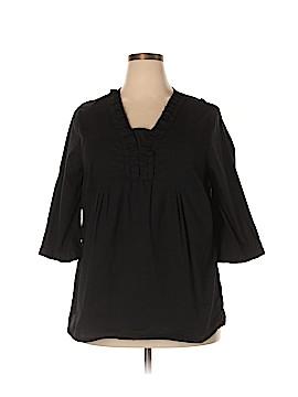 Liz & Me 3/4 Sleeve Blouse Size 1X (Plus)