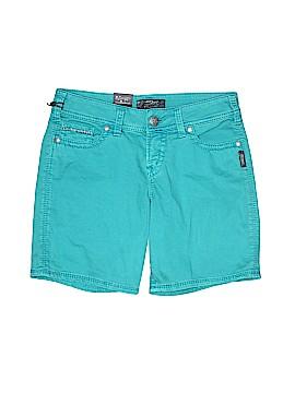Silver Denim Shorts 28 Waist