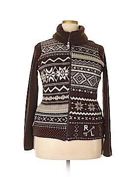 L-RL Lauren Active Ralph Lauren Wool Cardigan Size XL