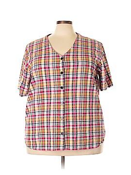 Carolina Colours Short Sleeve Button-Down Shirt Size 24 (Plus)