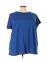 Roaman's Women Short Sleeve T-Shirt Size 4X (Plus)