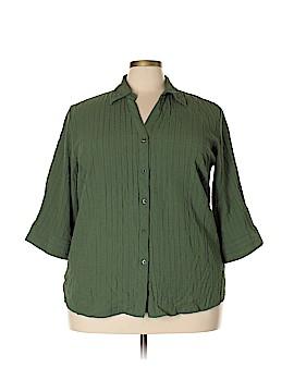 Great Northwest 3/4 Sleeve Button-Down Shirt Size 3X (Plus)