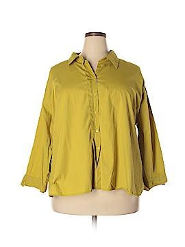 Carolina Colours Long Sleeve Button-Down Shirt Size 26 (Plus)