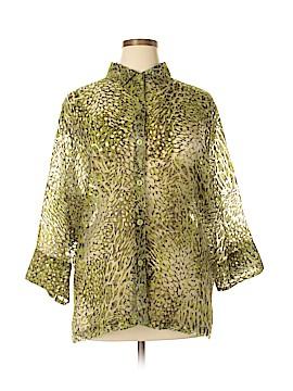 E.L.C.C. 3/4 Sleeve Blouse Size 3X (Plus)