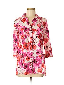 Jones New York Sport 3/4 Sleeve Button-Down Shirt Size M
