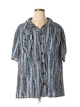 Maggie Barnes Short Sleeve Button-Down Shirt Size 28W - 26 (Plus)