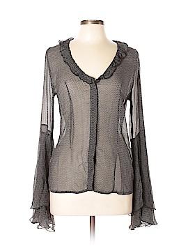 Winter Kate Long Sleeve Silk Top Size L