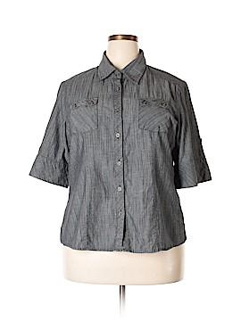 Caren Sport Short Sleeve Button-Down Shirt Size 2X (Plus)