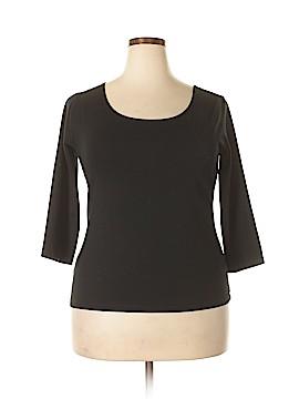IMAN 3/4 Sleeve T-Shirt Size 1X (Plus)
