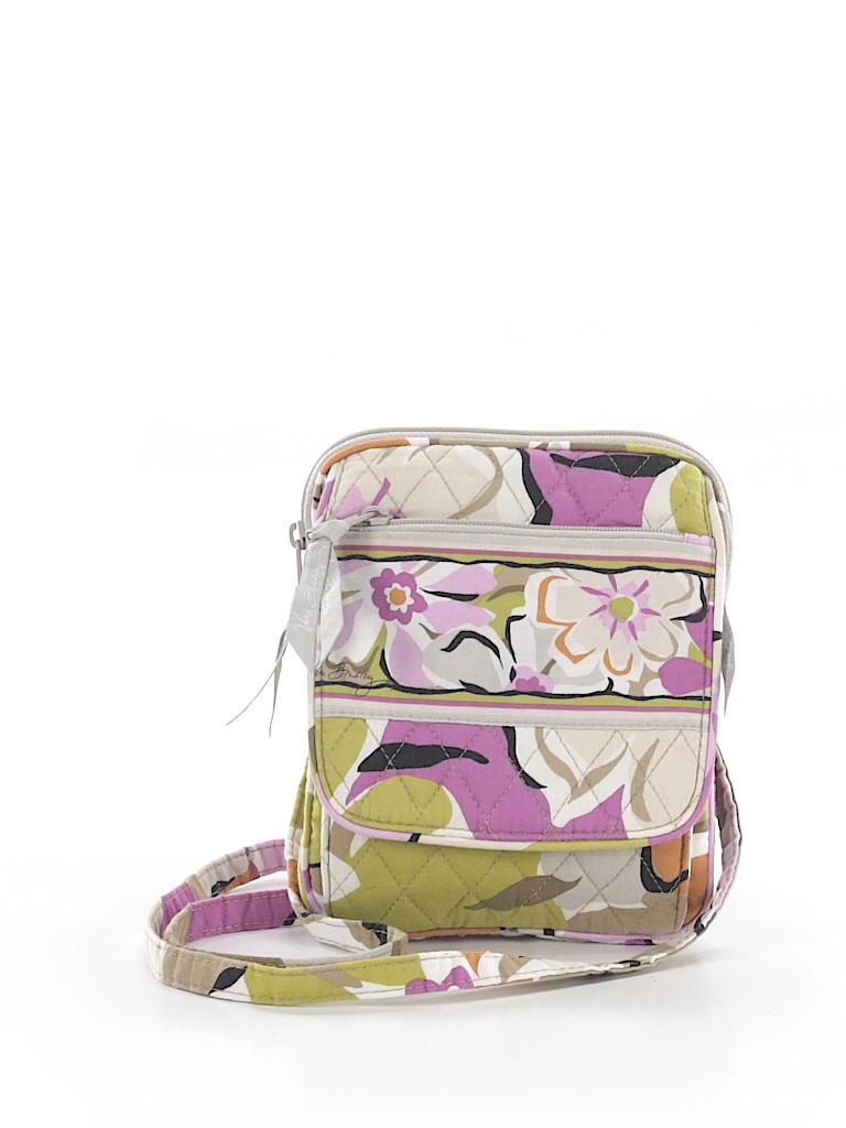 d4292fe707ea Vera Bradley 100% Cotton Floral Gray Crossbody Bag One Size - 61 ...