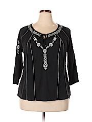 Mudd Women 3/4 Sleeve Blouse Size 1X (Plus)