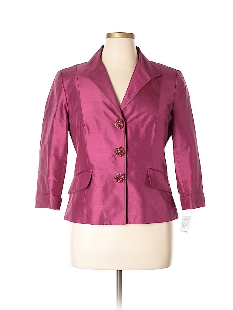 Lafayette 148 New York Women Silk Blazer Size 14