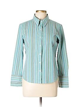Caribbean Joe Long Sleeve Blouse Size XL (Petite)