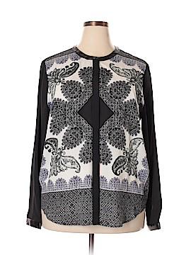 DKNYC Long Sleeve Blouse Size 1X (Plus)