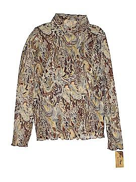 Pleat Pleat by Rafael Long Sleeve Blouse Size S