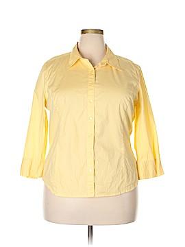 St. John's Bay 3/4 Sleeve Button-Down Shirt Size XXL