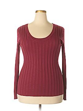 Allegra K Long Sleeve Top Size 2X (Plus)