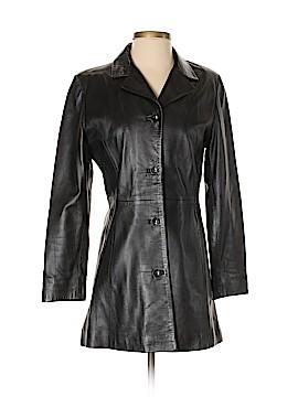 Vera Pelle Faux Leather Jacket Size S