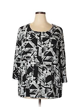 JM Collection 3/4 Sleeve Top Size 3X (Plus)