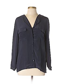 Comptoir des Cotonniers Long Sleeve Silk Top Size 40 (FR)