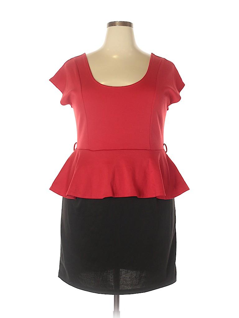 Love Delirious Los Angeles Women Casual Dress Size 2X (Plus)