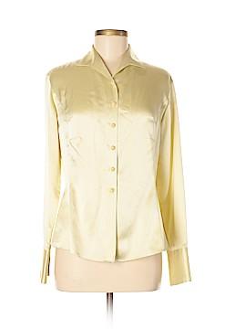 Tahari Long Sleeve Silk Top Size 6