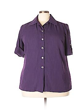 Leslie Fay Short Sleeve Blouse Size 18W Petite (Plus)