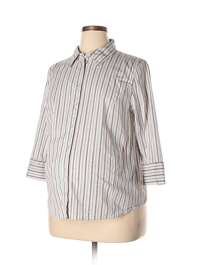 Liz Lange Maternity for Target Women Long Sleeve Button-Down Shirt Size XXL (Maternity)