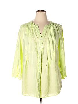 Chaus Sport 3/4 Sleeve Button-Down Shirt Size XL