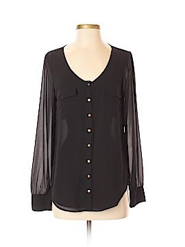 Naked Zebra Long Sleeve Button-Down Shirt Size S