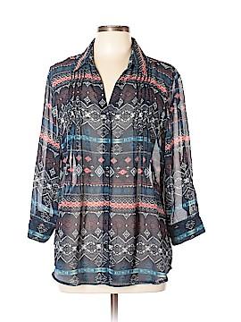 Vintage America Blues 3/4 Sleeve Blouse Size L
