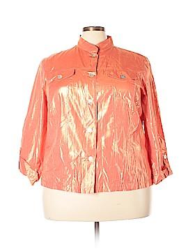 Lark Lane Long Sleeve Button-Down Shirt Size 20 (Plus)