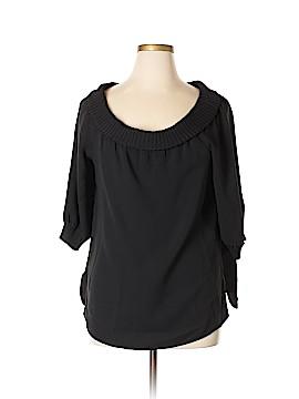 Lafayette 148 New York 3/4 Sleeve Silk Top Size XL