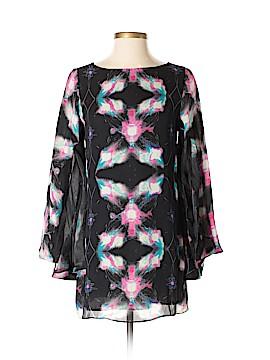 Halston Heritage 3/4 Sleeve Silk Top Size 6