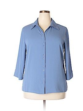 Joanna Short Sleeve Button-Down Shirt Size 1X (Plus)