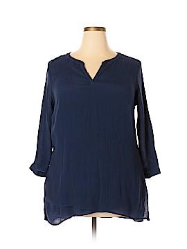 St. John's Bay 3/4 Sleeve Top Size 1X (Plus)