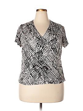 Laura Ashley Short Sleeve Top Size 1X (Plus)
