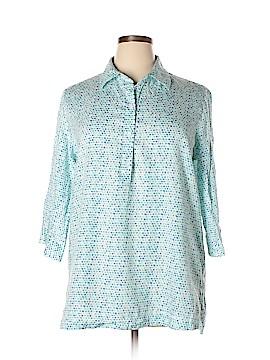 Westbound 3/4 Sleeve Button-Down Shirt Size XL