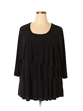 Susan Graver Short Sleeve Blouse Size 2X (Plus)