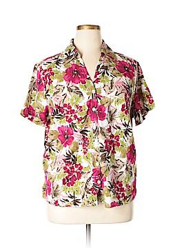 Erika Short Sleeve Button-Down Shirt Size 1X (Plus)