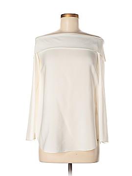 Massimo Dutti Long Sleeve Silk Top Size 6