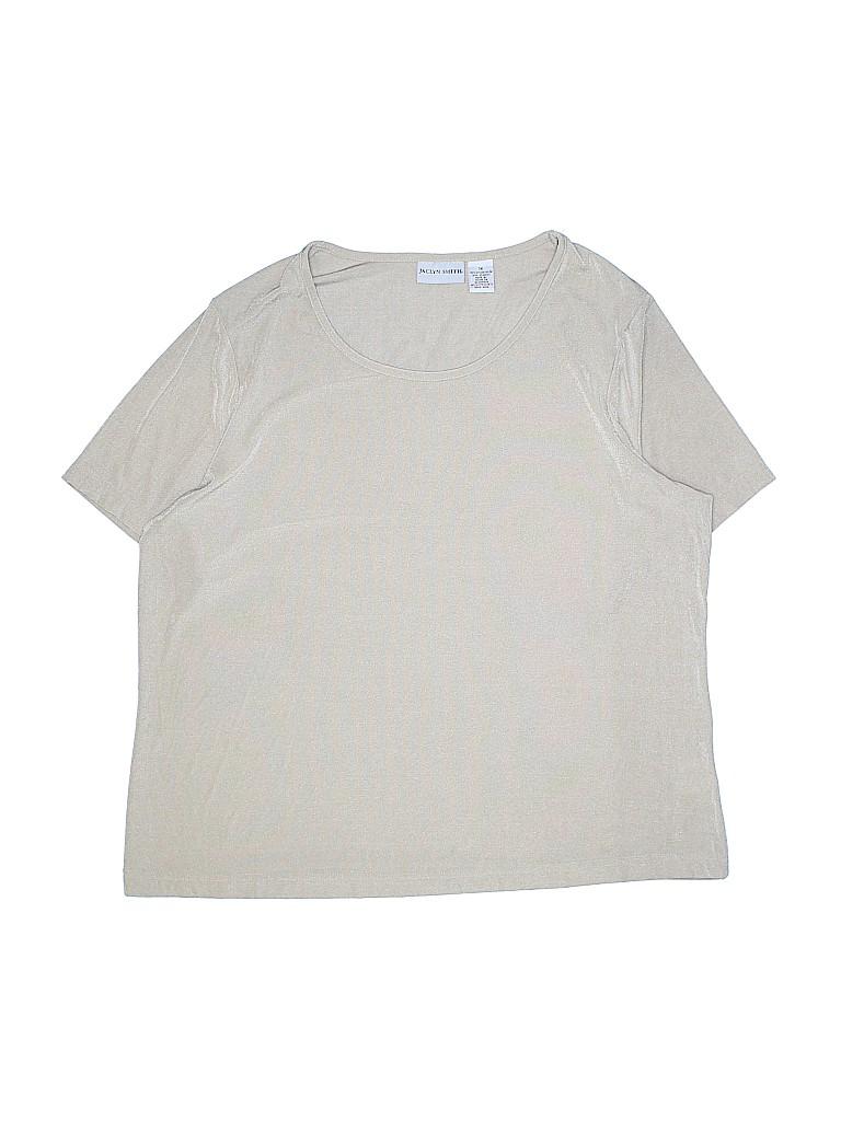Jaclyn Smith Women Short Sleeve Top Size 1X (Plus)
