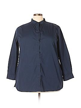 Bridgewater Studio 3/4 Sleeve Button-Down Shirt Size 2X (Plus)