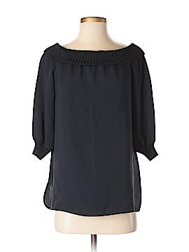 Lafayette 148 New York 3/4 Sleeve Silk Top Size S