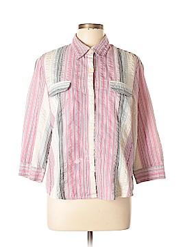 Norton McNaughton 3/4 Sleeve Button-Down Shirt Size 16